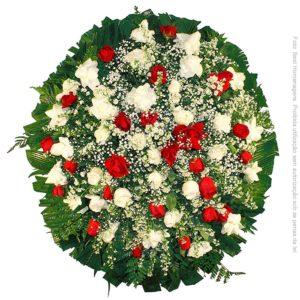Coroa de Flores Delicada Vermelha