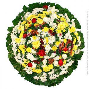 Coroa de Flores Simples Colorida